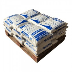 Half Pallet of Large White Salt Bags
