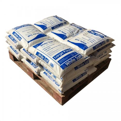 Half Pallet of Large White Salt Bags